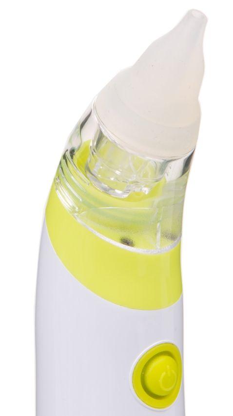 Cestovní nosní odsávačka hlenů na baterie Plus Comfort Plus Lime - zelená